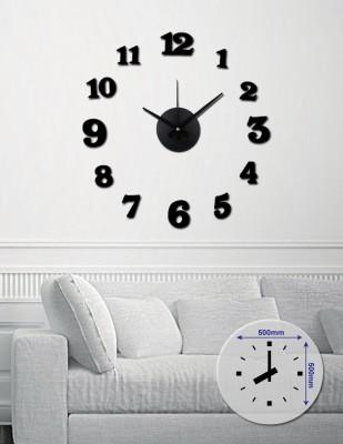 Nalepovacie nástenné hodiny, MPM 3509/12bk, 50cm,