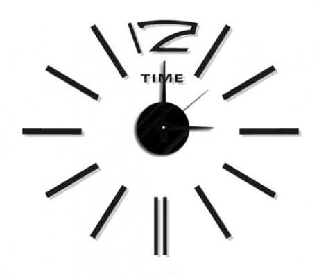 Nalepovacie nástenné hodiny, MPM 3510/Time bk, 50c,