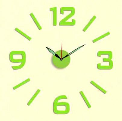 Nalepovacie nástenné hodiny, MPM 3514/3/12 Green, ,