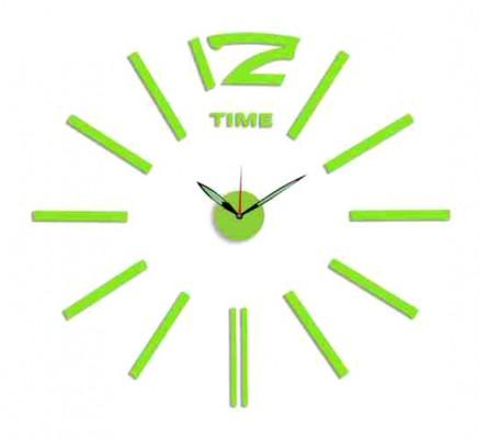 Nalepovacie nástenné hodiny, MPM 3515/Time Green, ,