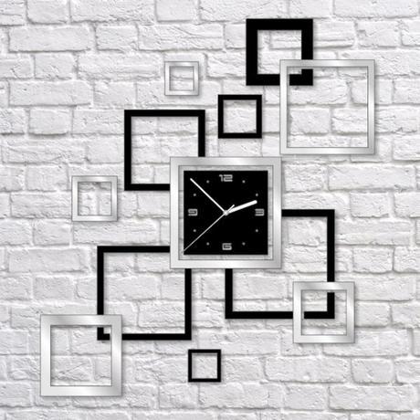Nalepovacie nástenné hodiny, Rámiky, 55x62cm,