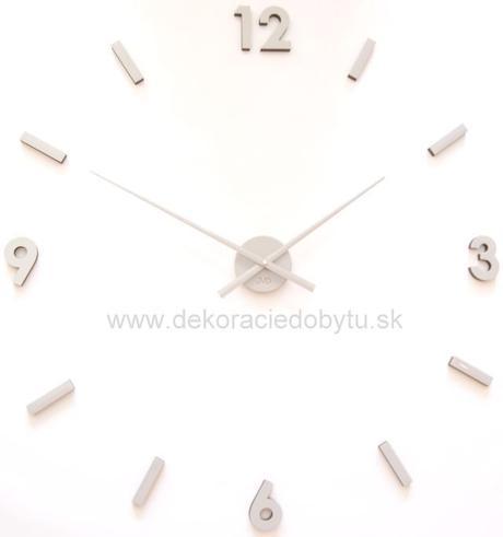 Nalepovacie nástenné hodiny sivé 70-100cm,