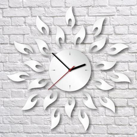Nalepovacie nástenné hodiny, Slnko, 42x42cm,