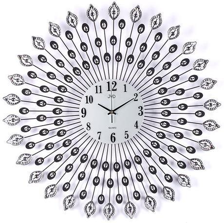 Nástenné dizajnové hodiny hj41 Sun Flower 70cm,
