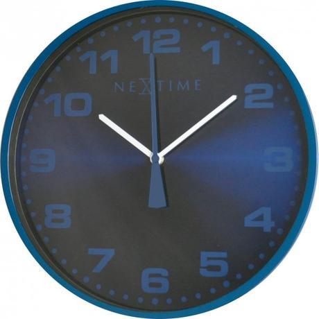 Nástenné hodiny 3053bl Nextime Dash Blue 35cm,