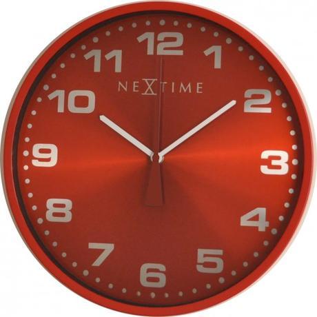 Nástenné hodiny 3053ro Nextime Dash Red 35cm,