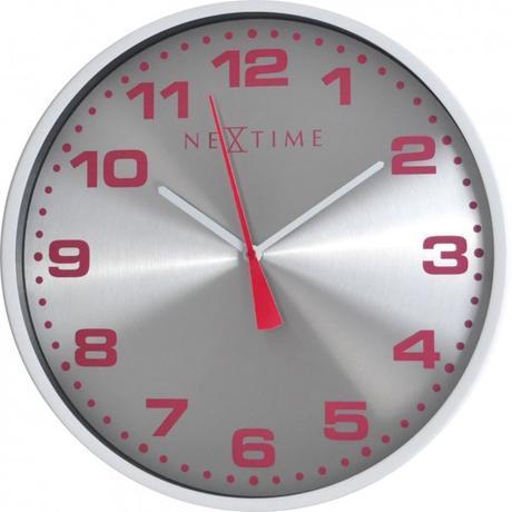 Nástenné hodiny 3053wi Nextime Dash White 35cm,