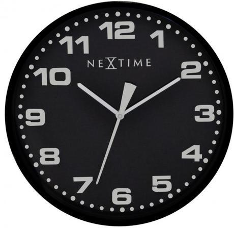 Nástenné hodiny 3053zw Nextime Dash Black 35cm,