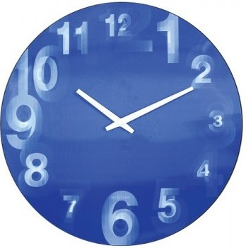 Nástenné hodiny 3077bl Nextime 3D 39cm,