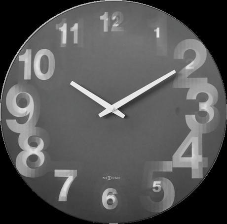 Nástenné hodiny 3077zw Nextime 3D 39cm,