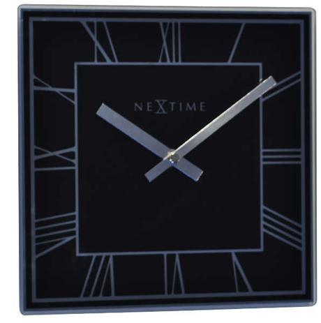 Nástenné hodiny 5184zw Nextime Square Roman 20cm,