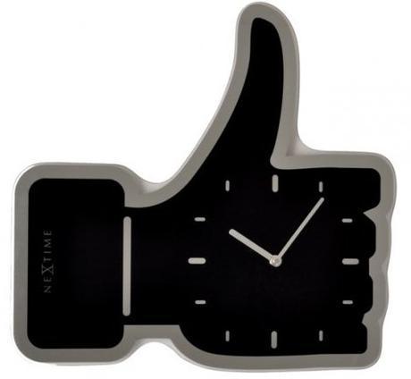 Nástenné hodiny 5185zw Nextime Mini Thumbs up 21cm,