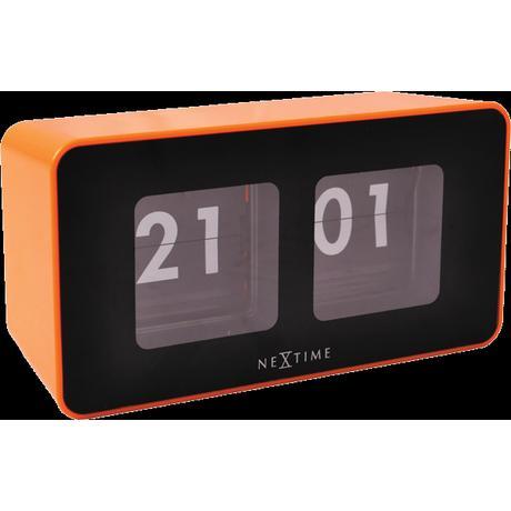 Nástenné hodiny 5186or Nextime Flipped 18x9cm,