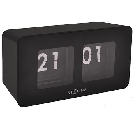 Nástenné hodiny 5186zw Nextime Flipped 18x9cm,