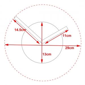 Nástenné hodiny 5452DG Karlsson 14cm,