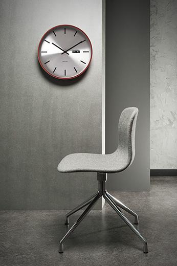 Nástenné hodiny 5461 Karlsson, Steel Date, 38cm,
