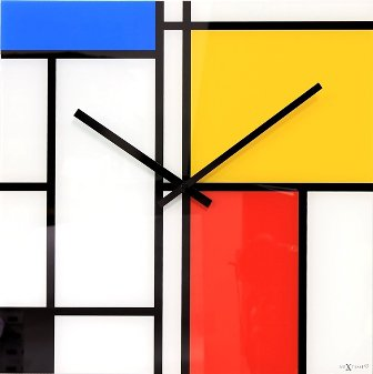 Nástenné hodiny 8156 Nextime TIMES LINES 43cm,