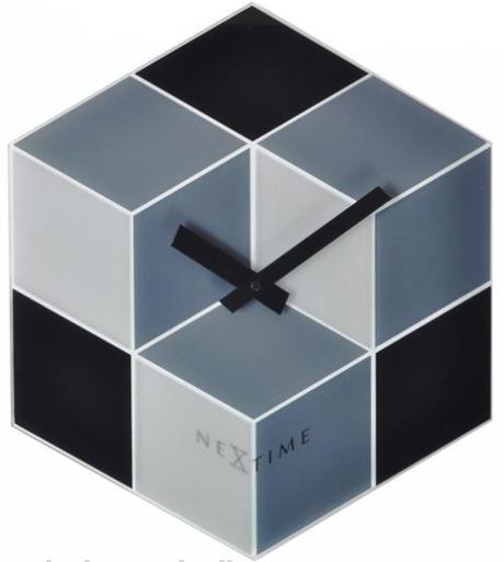 Nástenné hodiny 8171 Nextime Cubic 38x43cm,