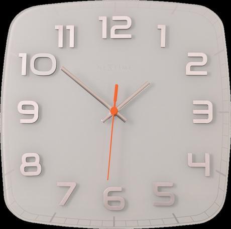 Nástenné hodiny 8816wh Nextime Classy square 30cm,