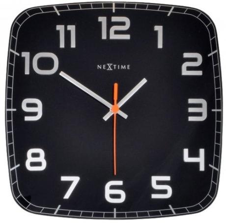 Nástenné hodiny 8816zw Nextime Classy square 30cm,