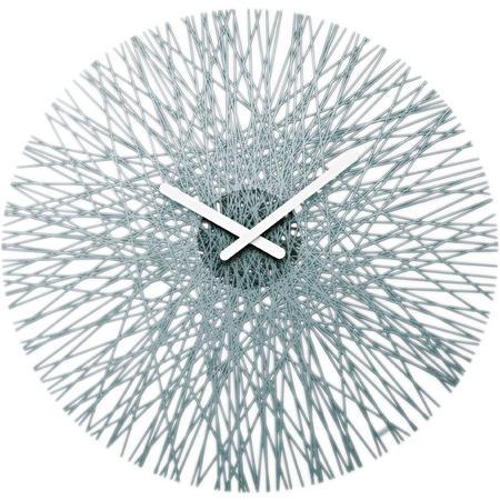 Nástenné hodiny Antracitová-transparentná, 45cm,