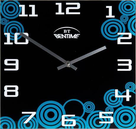 Nástenné hodiny BentimeAR295FB1 čierne,