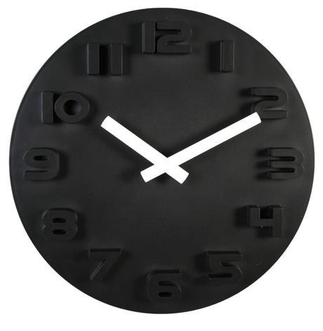 Nástenné hodiny Black & White, 30cm,