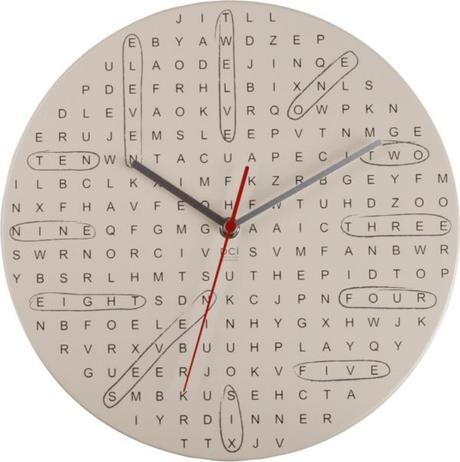 Nástenné hodiny DCI Word Search 29cm,