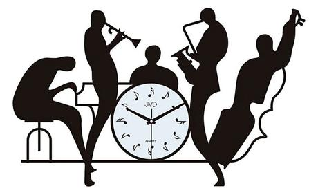 Nástenné hodiny dizajn Music JVD J70 60cm,