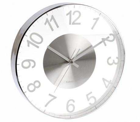 Nástenné hodiny do kúpeľne 5404WH Karlsson 30cm,