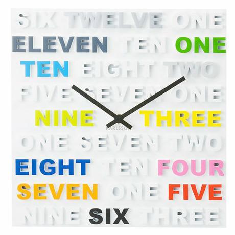 Nástenné hodiny Farebné  číslice,