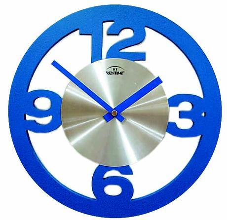 Nástenné hodiny H13 modré 29cm,