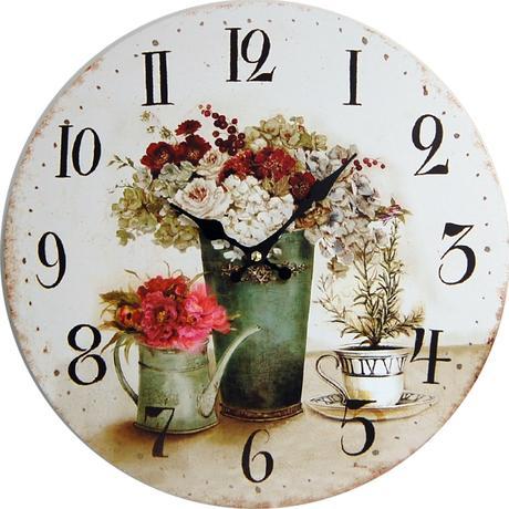 Nástenné hodiny hl Bouquet 34cm,