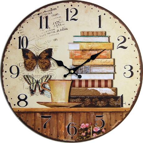 Nástenné hodiny hl Butterfly 34cm,