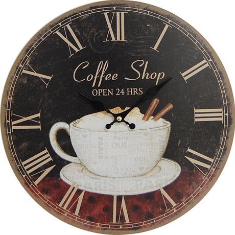 Nástenné hodiny hl Paris Coffe Shop 34cm,