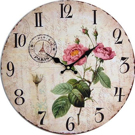 Nástenné hodiny hl ROSE 34cm,