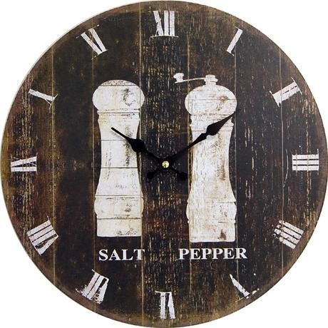 Nástenné hodiny hl Salt & Pepper 34cm,