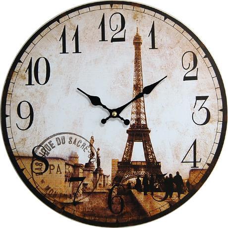 Nástenné hodiny hl tour Eiffel 34cm,