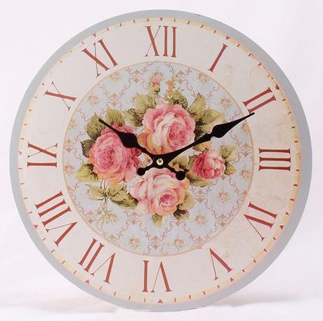 Nástenné hodiny HLC, 4 roses, 34cm,