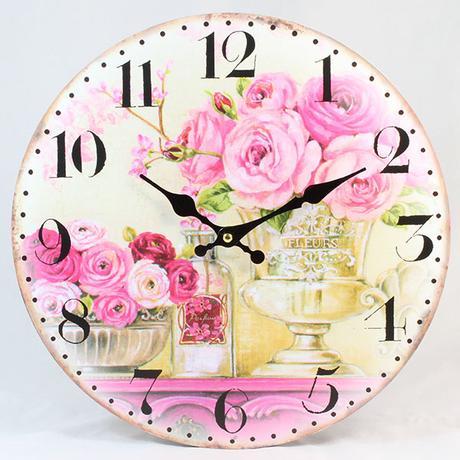 Nástenné hodiny HLC, Bouquet 1, 34cm,