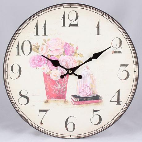 Nástenné hodiny HLC, Bouquet, 34cm,