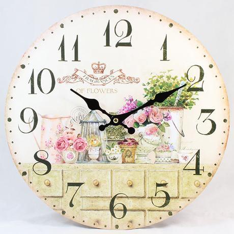 Nástenné hodiny HLC, Flowers, 34cm,