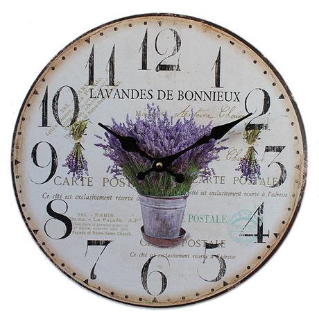 Nástenné hodiny HLC, Lavandes, 34cm,