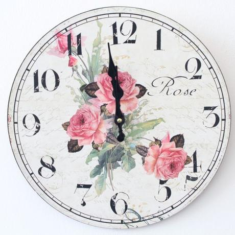 Nástenné hodiny HLC, Rose 1, 34cm,