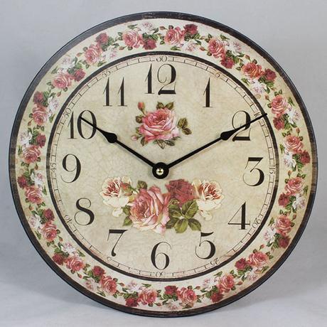 Nástenné hodiny HLC, Rose, 30cm,