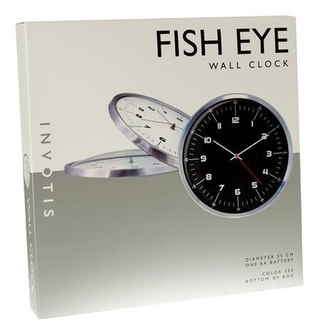 Nástenné hodiny Invotis FISH EYE 35cm,