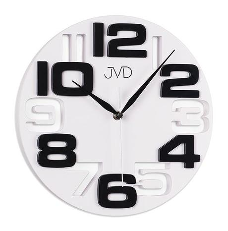 Nastenne hodiny JVD bieločierne 25cm,