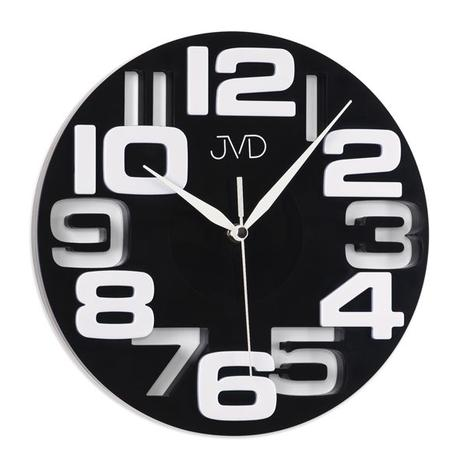 Nástenné hodiny JVD čiernobiele 25cm,