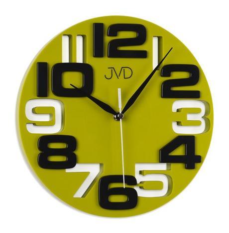 Nástenné hodiny JVD H107 zelene 25cm,