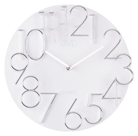 Nástenné hodiny JVD quartz HB08 biele 32cm,